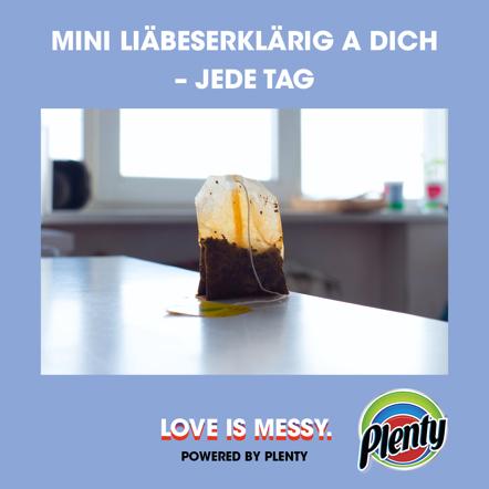 Plenty Love is Messy Meme Teebeutel