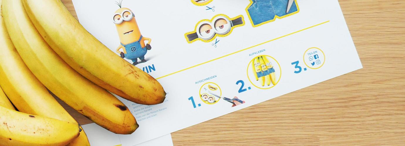 Banaan in minion look