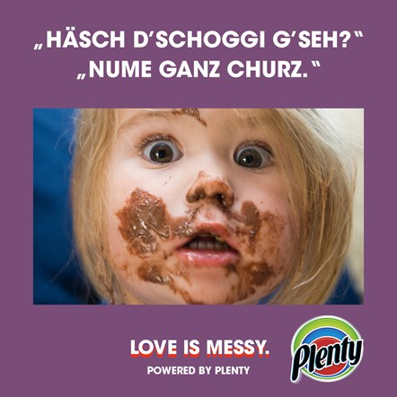 Plenty Love is Messy Meme Schoggi