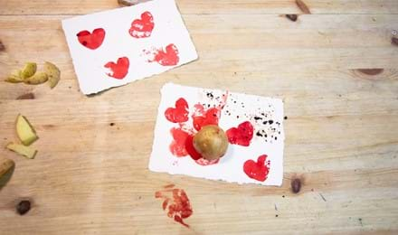 Potato print ideas for rainy days at home