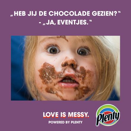 Plenty Love is Messy Meme Chocolade