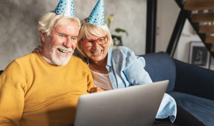 Een online feestje voor een virtuele verjaardag