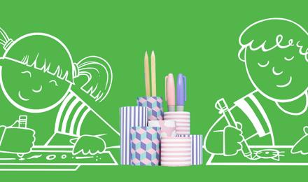 Wie Sie einen originellen Stiftehalter basteln – mit einer Küchenrolle